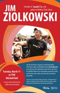 Jim Ziolkowski, best-selling author and founder of buildOn, to speak on March 11